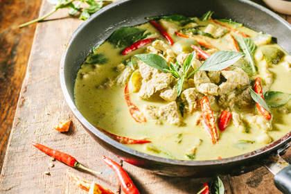 poulet curry vert thailande