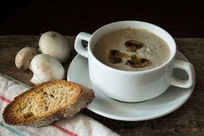 Recette : Velouté de champignons au curry vert !
