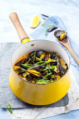 moules curry vadouvan masala