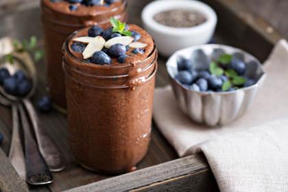 pudding chocolat et graines de chia