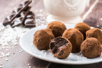 truffes chocolat et ail noir d'aomori