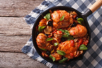 poulet tomate ail noir