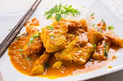 poisson au curry noir lait de coco