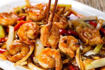 wok légumes crevettes curry noir
