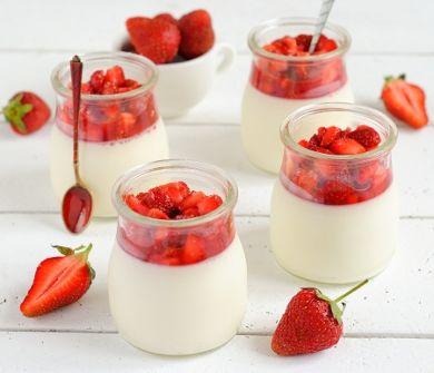 panna cotta tonka baobab fraises