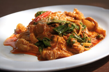 curry rouge au poulet thai