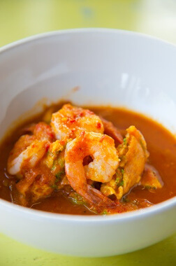 curry rouge thai de crevettes
