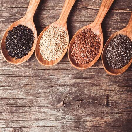 graines de chia et de lin à la place d'oeuf