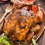 poulet roti au four au sel fou