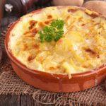 gratins de patates douces et pommes de terre