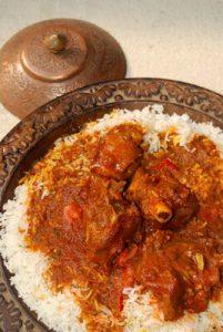 Rogan josh curry d'agneau du cachemire