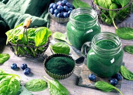 Recette : smoothie santé épinards spiruline !