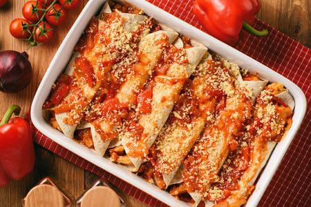 Recette : Enchiladas de poulet (de pollo) mexicaines